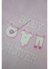 5M Chemin de table BABY SHOWER rose