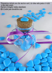 150g Petits coeurs turquoise