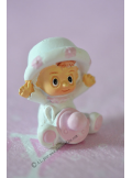 1 bébé chapeau rose