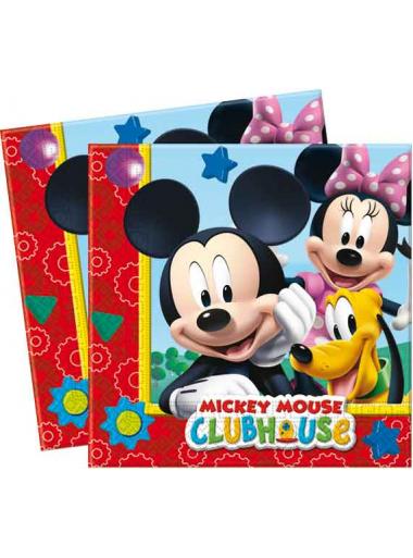 20 Serviettes Anniversaire Mickey