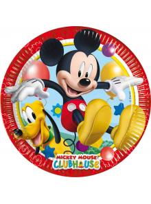 8 Assiettes Anniversaire Mickey