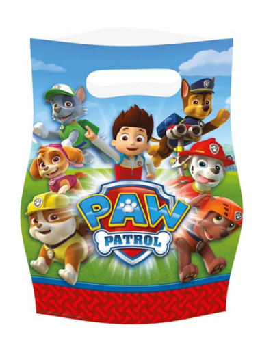 8 sacs cadeaux Anniversaire Pat Patrouille