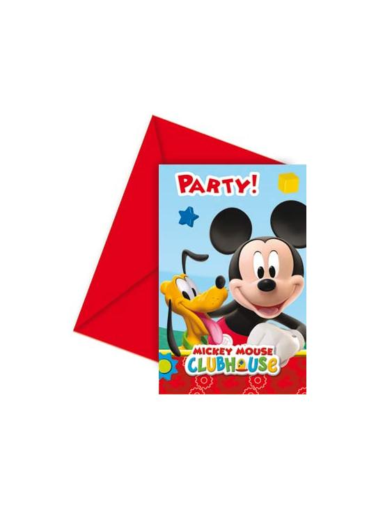 Cartes d'invitation Anniversaire Mickey