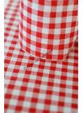 5M MINI Chemin vichy rouge 15cm