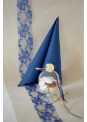 20M tulle dentelle lilly 5cm bleu nuit