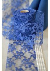 20M tulle dentelle lilly 10cm bleu nuit