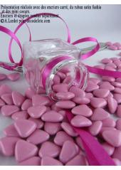 150g Petits coeurs rose