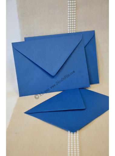 10 enveloppes a menu bleu marine. Black Bedroom Furniture Sets. Home Design Ideas