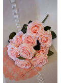 1 bouquet 10 roses ABRICOT