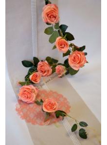 1 liane de roses MELON
