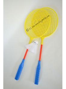 2 raquettes de badminton et volant