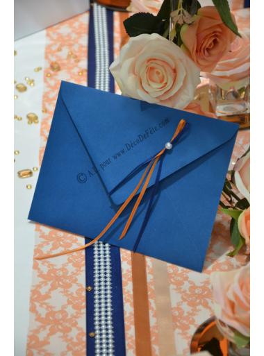 10 Enveloppe à MENU bleu marine