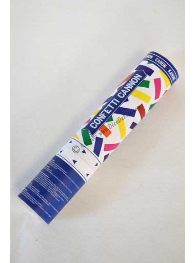 1 mini canon à confetti multicolore