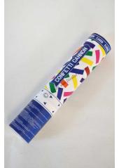 1 mini canon à confetti multicolore 20cm