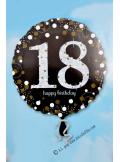 1 ballon helium noir 18