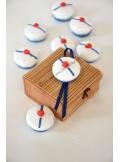 8 bérets de marin avec pompon
