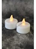 6 bougies LED chauffe plat blanc chaud