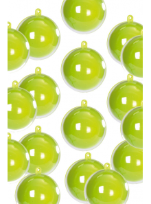 200 MINI Boules bicolores vert anis 3cm