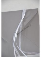 1 Enveloppe perle grise