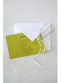 10 Enveloppes à MENU blanches