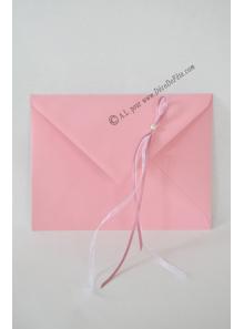 1 Enveloppe perle rose