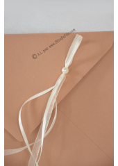 1 Enveloppe perle caramel