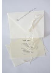 1 Enveloppe perle ivoire