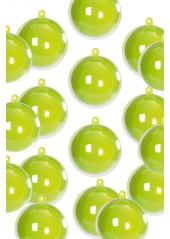 1 MINI Boule 3cm bicolores vert anis