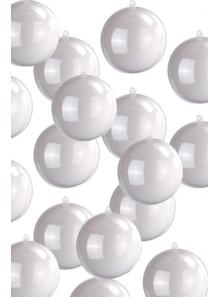 200 MINI Boules bicolores blanches 3cm