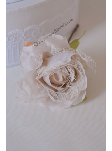 1 rose JEANNE ivoire/taupe