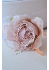 1 rose JEANNE dentelle rose
