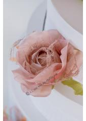 1 rose JEANNE dentelle vieux rose