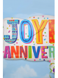 1 ballon RECTANGLE hélium joyeux anniversaire