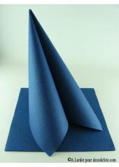 50 Serviettes jetables presto bleu marine
