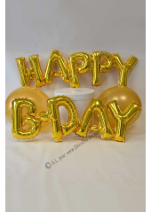 1 ballon fun HAPPY B-DAY or