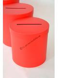 1 Urne ronde rouge 21cm