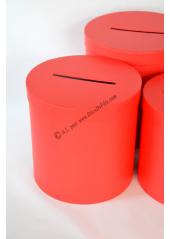 1 Urne ronde rouge 23cm