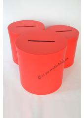 1 Urne ronde rouge 25cm