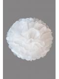 3 fleurs pompon papier blanc 30cm