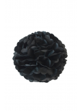 3 fleurs pompon papier noir 20cm