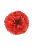 3 fleurs pompon papier rouge 20cm