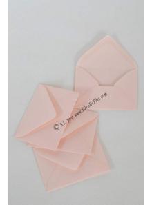 50 Mini Enveloppe rose