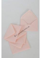 50 Mini Enveloppe rose pastel