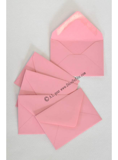 50 Mini Enveloppe vieux rose