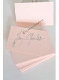 50 Mini Carte rose pastel