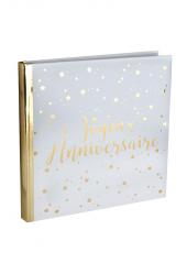 1 livre d'or JOYEUX ANNIVERSAIRE étoiles or