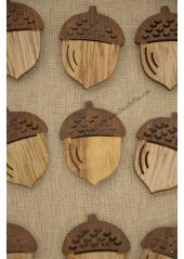 12 GLANDS en bois a coller