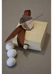 1 boite ivoire DECOREE remplie de dragées noisette