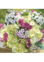 20 Serviettes Bouquet enchanté
