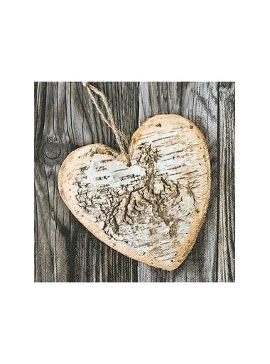 20 Serviettes Coeur Eternel